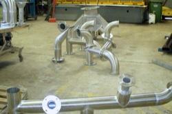 Stainless steel pipework for sewerage and chemical industries