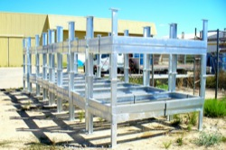 Fabricated frames for wind energy industry